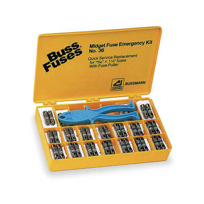 BUSSMANN Glass Fuse Kit,270 Fuses Included, NO.270