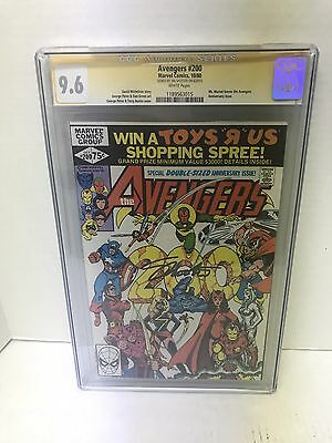 AVENGERS #200 CGC 9.6 NM Signed By Jim Shooter Famous Rape Issue.