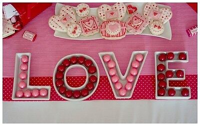 LOVE Letter Dishes for Wedding/Lolly Buffet/Engagement/Party/Table Centrepiece