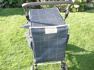 Sholley Trolley. Shopping Trolley with a blue checked design bag