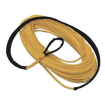 ALL GEAR Winch Line,Synthetic,3/8 In. x 100 ft., AG12SS38100, Yellow