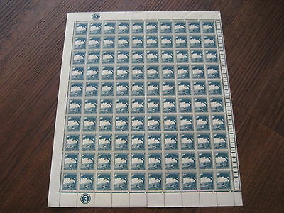 PALESTINE STAMPS SCARCE SHEET 100 STAMPS  SG90 2m 1927 GREENISH BLUE STAMPS
