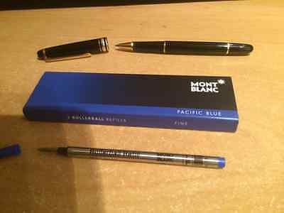 Montblanc Rollerball Pen Refills Authentic 2 pack Pacific Blue Fine from the UK