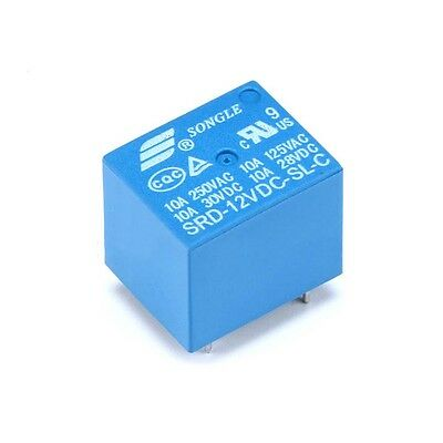 New Original Mini 12V DC 10A SONGLE Power Relay SRD-12VDC-SL-C