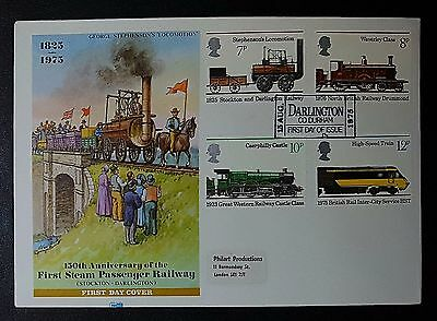 GB 15/8/1975 FDC - Stockton & Darlington Railway - (NoL173)