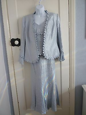 Stunning Frank Usher ice blue 3 piece suit for occasions/Mother of the Bride