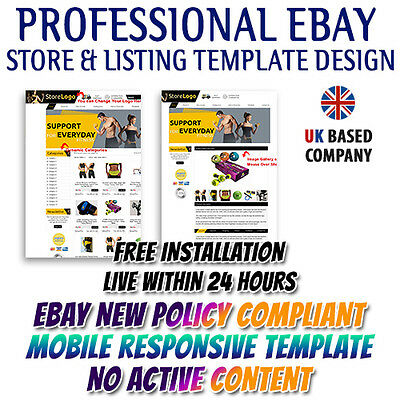 eBay Professional HTML Store, Listing Mobile Responsive Templates for Gym&Sport