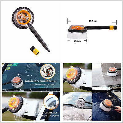 Car Truck Wash Brush Switch Foam Rotation Cleaning Soft-bristle Round Brush Tool