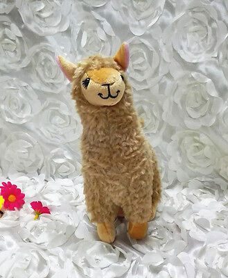 Cute Brown Alpaca Llama Plush Toy Camel Animal Girls Boys Kids Stuffed Doll Gift