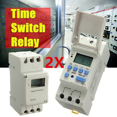 DC 12V 16A Digital LCD Programmable Timer DC Relay Switch For Power Equipment AU
