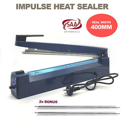 400mm Heat Sealing Hand Impulse Sealer Machine Element Poly Plastic Bag Sealer
