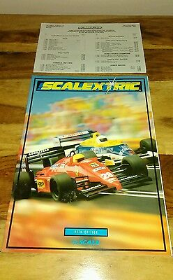 scalextric 1989 30th edition catalogue with price list brand new old stock 😊