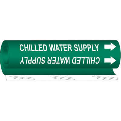 BRADY 7072-1 Pipe Marker,Cooling Water Supply,Green