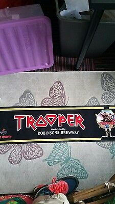 Iron maiden trooper beer bar runner BRAND NEW . last one i have