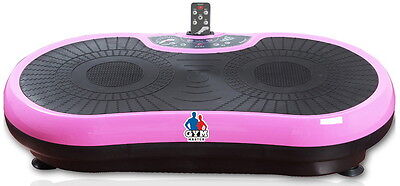 REBOXED Gym Master Slim CRAZY FIT VIBRATION Massage Power Plate Machine in Pink