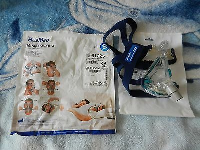 Resmed - Mirage Quattro Ventilator Full Face Mask - size M (CPAP, BIPAP, APAP)