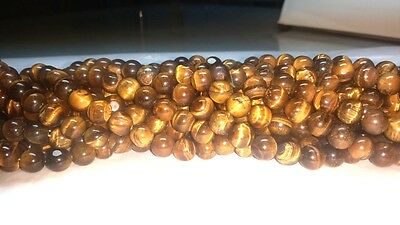 """19"""" Natural Tiger's Eye Gemstone Round Beads 8mm 9mm 10mm 11mm - free shipping"""