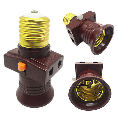 E27 Screw Base Light Holder Convert To Switch Lamp Bulb Socket Adapter Tackle