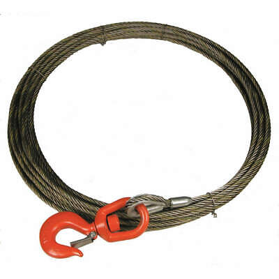 LIFT-A Carbon Steel Wire, Bright Winch Cable,3/8 In. x 35 ft., 38WISX35, Natural