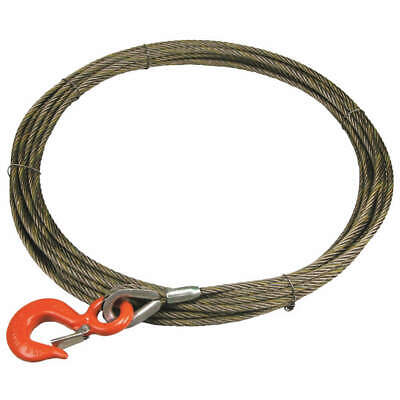 Carbon Steel Wire, Bright Winch Cable,FC,7/16 In. x 100 ft., 716WFIX100, Natural
