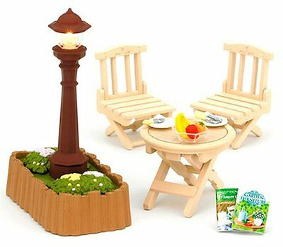 Sylvanian Families Furniture Outside Lamp Garden Table Set K-614