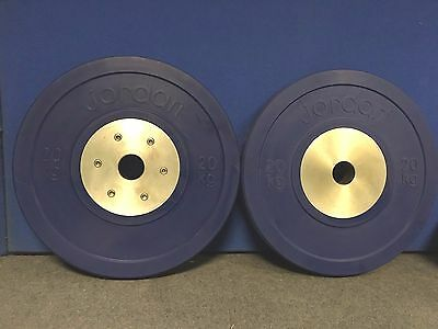 Pair of 20kg Calibrated Olympic Competition weight Discs,commercial equipment