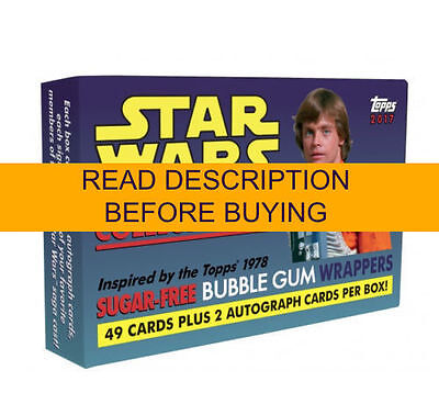 2017 Topps Star Wars 1978 Sugar Free Wrappers 49 Card Base Set W/ Box Base Only