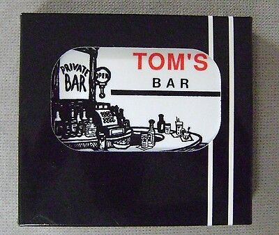 TOM'S BAR NAME SET OF 6 CORK BACKED COASTERS Boxed Australian made