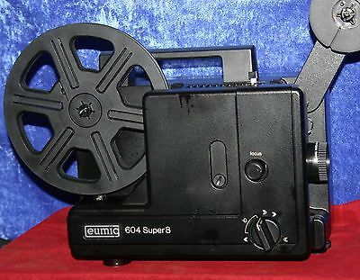 EUMIG 604 SUPER 8mm SILENT MOVIE PROJECTOR, NEW OSRAM 100w LAMP , SERVICED A1
