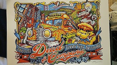 Dead and company posters Fenway June 17 and 18