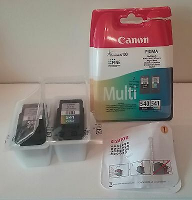 Canon Empty Ink Cartridges Black Pg-540 And Colour Cl-541 Color With Packaging