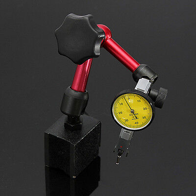 Magnetic Base Holder Stand + Dial Test Indicator Gauge Precision Scale Universal