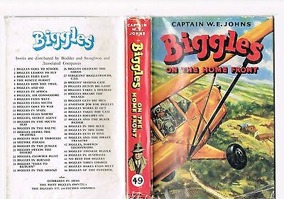 Biggles on the Home Front - Captain W E Johns - 1957 1st edition