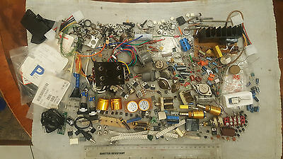 Electronic Parts, Large Amount, Too Many To Count, Uised + Some New!