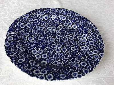 "Burleigh Calico Blue Dinner Plate 9.5"" 24cm"
