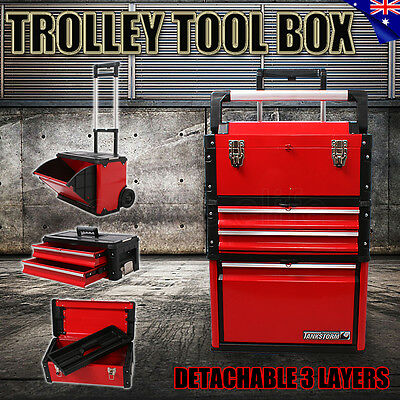 New Multi Drawers Trolley Tool Box Chest Cabinet Castor Roller Toolbox Storage