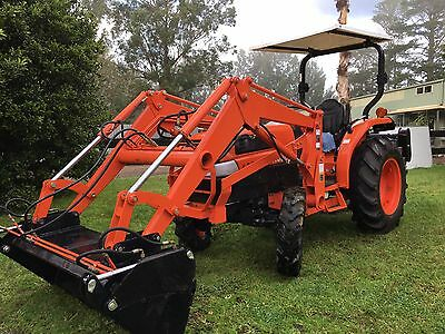 Kubota L3430 35HP 4x4 4in1 Level Lift Bucket New Flail Mower Tractor 3pl PTO