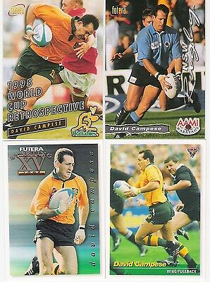 1995 And 1996 Futera 4 Cards Of David Campese