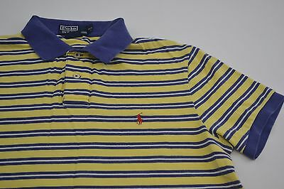 Mens Vintage Striped Custom Fit Ralph Lauren  Polo Shirt Size Large #CP23060078