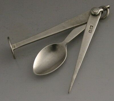 Rare English Edwardian Sterling Silver Pipe Smoking Tool 1903 Antique Chester