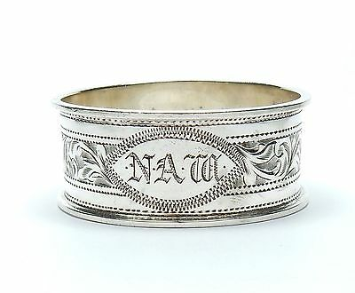 Antique Napkin Ring Sheffield 1929 925 Sterling Silver W W Kemp & Son Ltd 16.6g