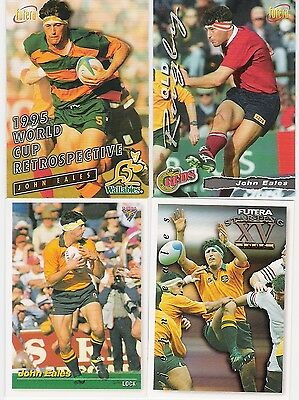 1995 And 1996 Futera 4 Cards Of John Eales