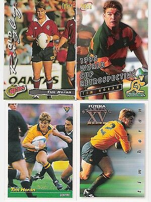 1995 And 1996 Futera 4 Cards Of Tim Horan