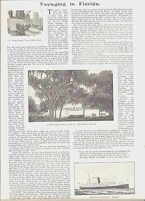 1905 Voyaging To Florida Full Page Article Engravings Harper's Weekly