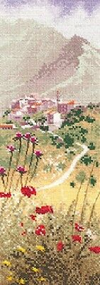 CORSICAN VILLAGE INTERNATIONAL counted cross stitch CHART HERITAGE CRAFTS RRP£11