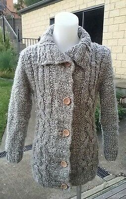 Country Road Girls Grey Cardigan Size 7.