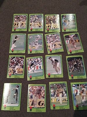 World Series Cricket Cards 1981/82 Scanlens - New Zealand Full Team