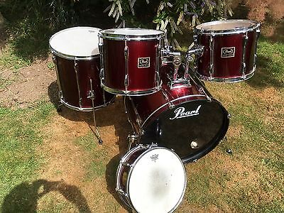 Pearl Export 5 Piece Kit Shells and Skins - Good Condition