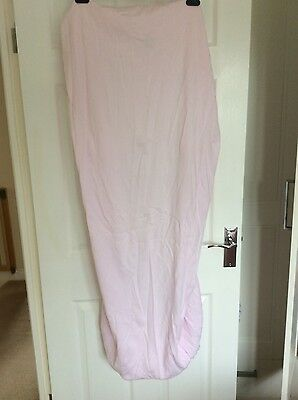 Two John Lewis Pink Fitted cot bed sheets