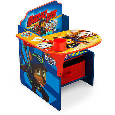 Chair Desk Storage PAW PATROL Children Bin Nick Jr Delta Kids New Seat Table